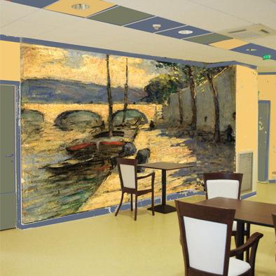 peinture murale d coration murale fresque art mural paris. Black Bedroom Furniture Sets. Home Design Ideas